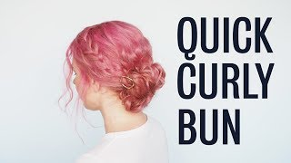 Quick And Easy Updo For Curly Hair