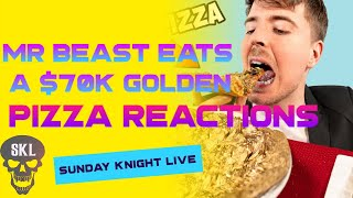 MR. BEAST EATS A $70,000 GOLDEN PIZZA COMMENTARY