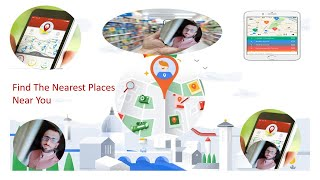 Find the nearest places Near You Bakery,Hosptial,Shopes,fuel station, Find router where you are.