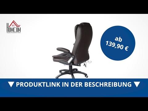 Homcom Massage-Chefsessel mit Wärmefunktion drehbar braun - direkt kaufen! - Aosom.de