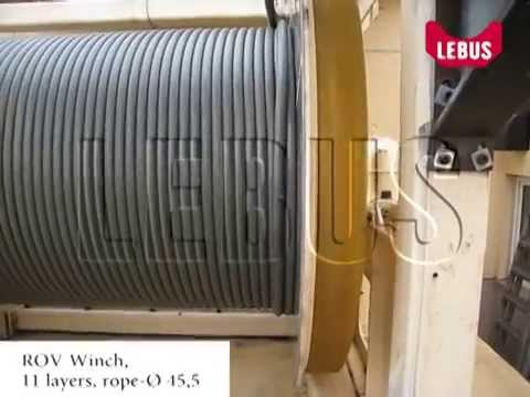 Remotely operated vehicle winch