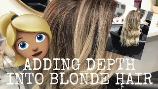 ADDING DEPTH INTO BLONDE HAIR   BEADED WEFT EXTENSIONS