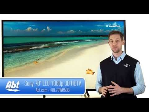 Sony 70 inch LED 1080P 3D HDTV KDL70W850B Overview