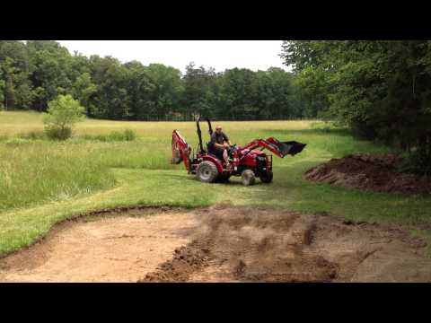Small Fishing Pond Expansion Project – Step 9 – Help from a Friend & His Mahindra Tractor