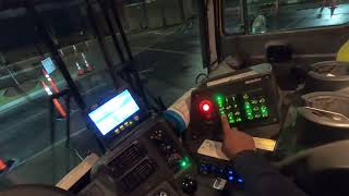 How to operate a Front load garbage truck