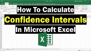How To Calculate Confidence Intervals In Excel