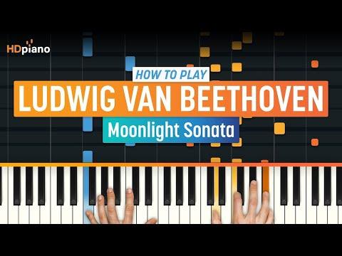 "How to Play ""Moonlight Sonata"" by Ludwig van Beethoven | HDpiano (Part 1) Piano Tutorial"