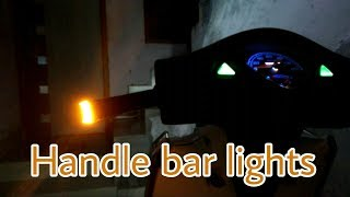 How to install bar end lights for all scooter | honda aviator