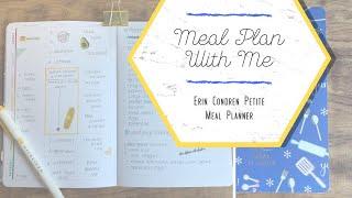 HOW I MEAL PLAN | Erin Condren Petite Meal Planner