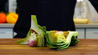 HOW TO CLEAN AND CUT ARTICHOKES