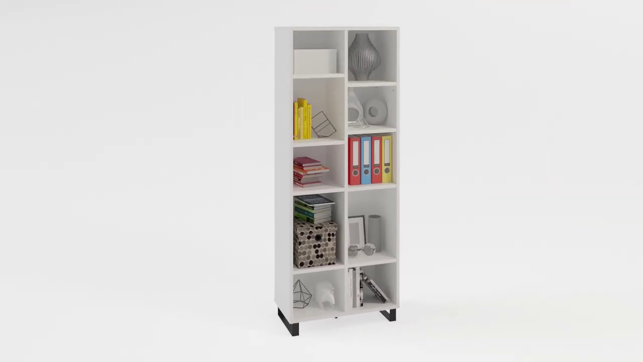 Simple Narrow Double Bookcase