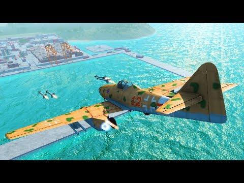Me262 Schwalbe Jet Plane Crash Testing Beamng Drive