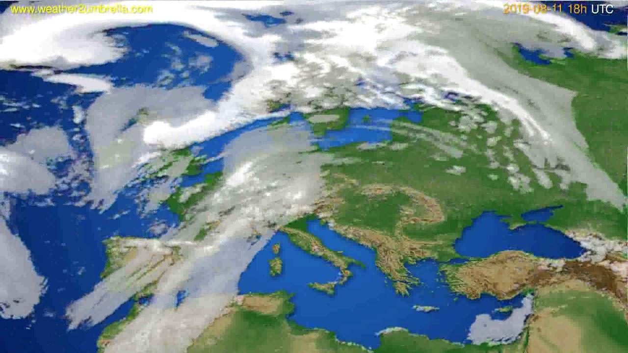 Cloud forecast Europe // modelrun: 00h UTC 2019-08-09