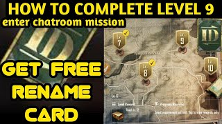 How to complete level 9 in pubg mobile and enter chatroom mission pubg lite free rename card simba