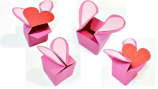 Heart Shaped Gift Box Template Valentine Love Heart Diy Tutorial Making Easy Ideas Secret Message