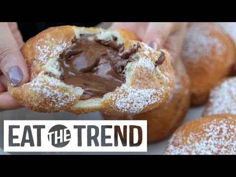 Nutella-Stuffed Doughnuts | Eat The Trend