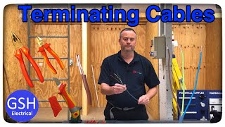 Terminating PVC/PVC Twin and CPC Cables (How To Terminate Twin and Earth Cables)