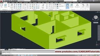 AutoCAD 3D House Modeling Tutorial Beginner Basic - 1