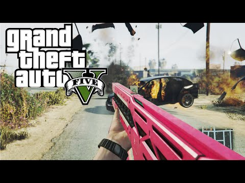 *NEW* GTA 5 -  How To Get The Railgun For FREE! (Secret Weapon Location)