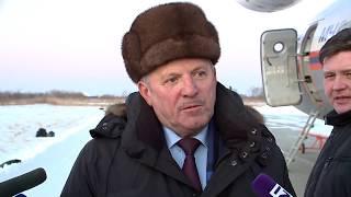 Губернатор Вячеслав Шпорт побывал на месте крушения самолета Л-410 в Нелькане