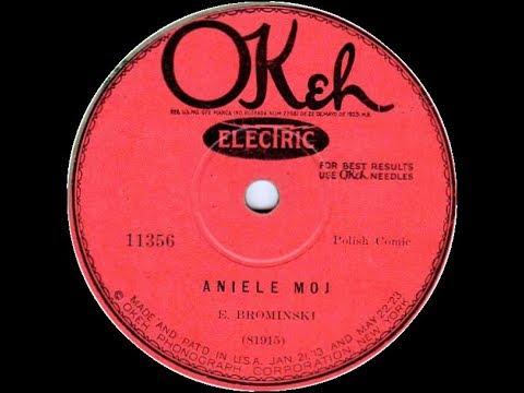 Polish 78rpm recordings, 1927. Okeh 11356.Aniele mój / Płynie woda –comic scene