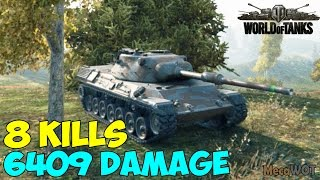 World of Tanks | Leopard 1 | 8 KILLS | 6409 Damage - Replay Gameplay  60 fps