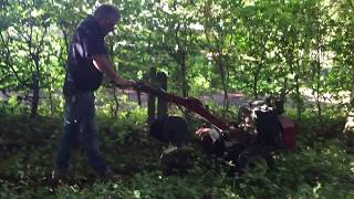 Dog Fence Installation - installing the invisible dog fence wire in dense woodland!