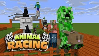 Monster School: ANIMAL RACING CHALLENGE - Minecraft Animation
