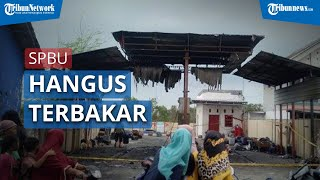 Salah Satu SPBU di Sampang, Madura Ludes Terbakar, Diduga karena Puntung Rokok di Dekat Mesin Pom