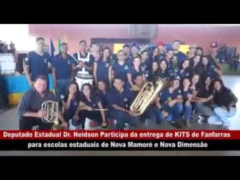 DR. NEIDSON PARTICIPA DE ENTREGA DE KITS DE FANFARRA EM ESCOLAS DE NOVA MAMORÉ E NOVA DIMENSÃO
