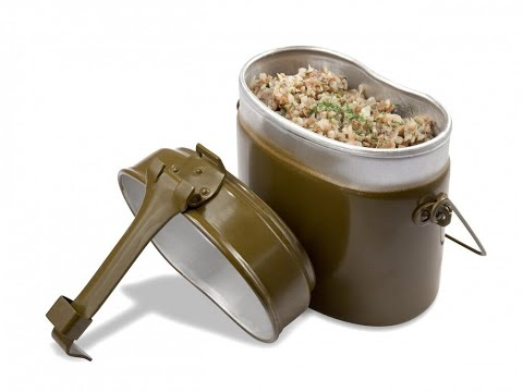 Гречневая каша на полевой кухне от Луча. Buckwheat porridge. stewed potatoes. 荞麦粥. 炖土豆
