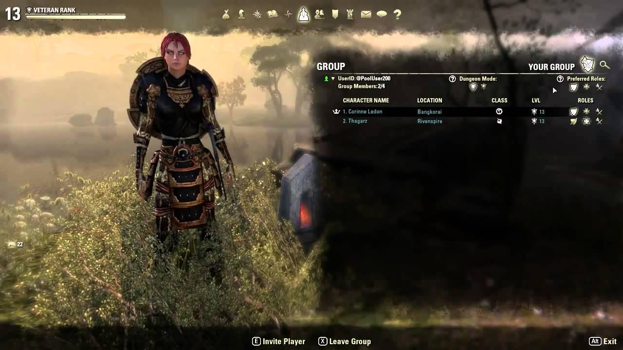 Elder Scrolls Online: видео - Взаимодействие в группе TESO