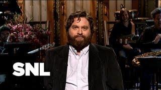 Zach Galifianakis Monologue: Monologue of Song - Saturday Night Live