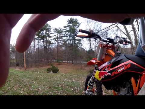 KTM 350 sxf 2013 First ride back yard