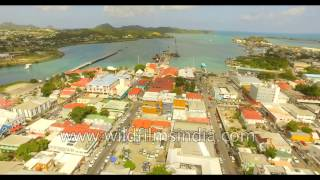 Fly over Antigua and Jamaica: aerial Caribbean journey in 4K
