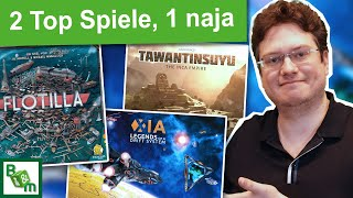 3 Brettspiel Ersteindrücke | Flotilla, Tawantinsuyu, XIA