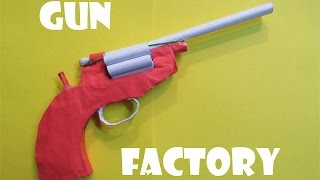 How To Make A Paper Revolver That Shoots Paper Bullet  Easy Tutorials