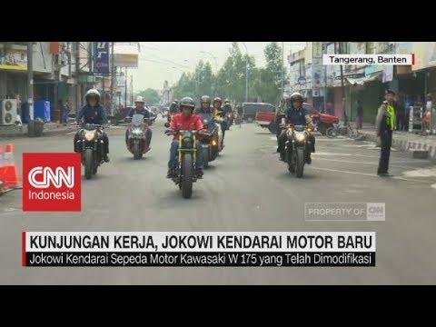 Begini Aksi Jokowi Menjajal Motor Baru Miliknya Menuju Pasar Anyar Tangerang