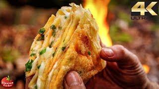 Ultimate Jianbing 4K – ASMR Forest Cooking