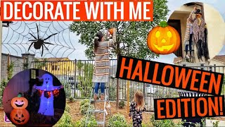 DECORATE WITH ME For Halloween! // Indoor/outdoor Halloween Decorating Inspiration | BUDGET FRIENDLY