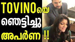 Tovino Thomas gets Shocked by Hearing Aparna Balamurali Singing this Song- Video