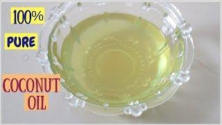 100% pure Homemade Coconut Oil | 100% शुद्ध नारियल का तेल घर पे बनाए | Khushboocooks