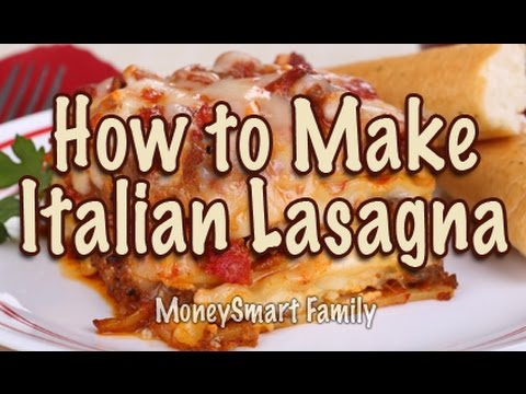 How to Make Classic Italian Lasagna with Meat -in the kitchen with Annette Economides