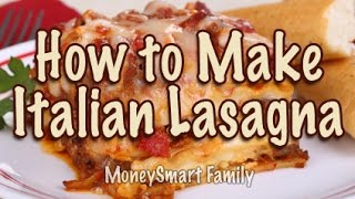 How to Make Classic Italian Lasagna Recipe with Meat/ Authentic Lasagna/ Easy Lasagna/ Economides