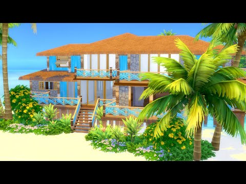 Let's Build a Tropical Beach House in The Sims 4 (Part 3)