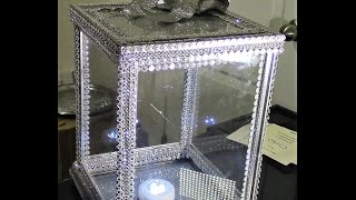 DIY: Dollar Tree 100% Glass Card/Money/Keepsake Box Wedding DIY Wk1