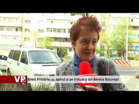 Bilele Primăriei au apărut și pe trotuarul din Bariera București