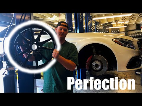 Installing my NEW RIMS on My Mercedes C63S AMG!