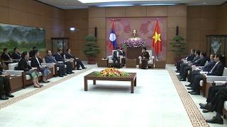 Tin Tức: Chủ tịch Quốc hội Nguyễn Thị Kim Ngân tiếp Thủ tướng Lào