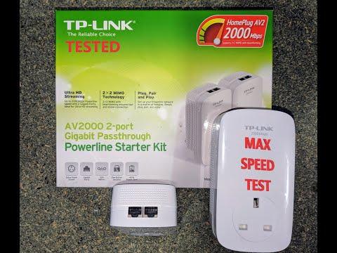 Powerline adapter MAX SPEED TEST  TP Link AV2000